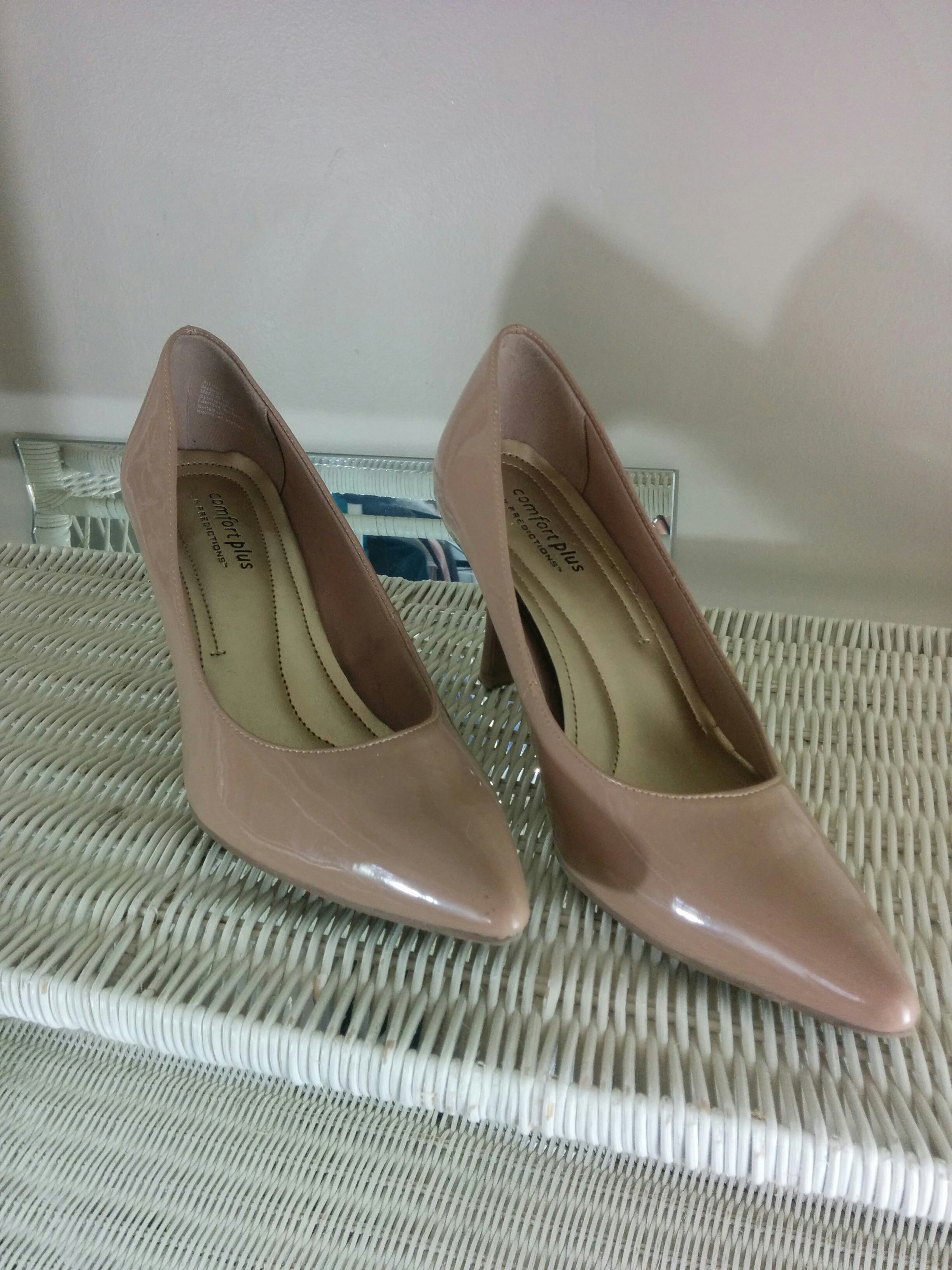 8bab17cafab Payless Nude Pointed Toe Heels on Storenvy