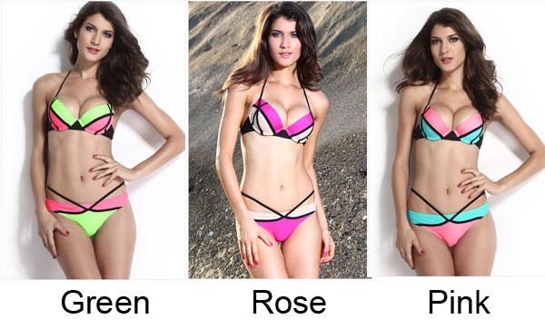 9aa5add7a9 ... Geometry Sexy Swimsuit Big Sale Adjustable Strap Bikinis - Thumbnail 4