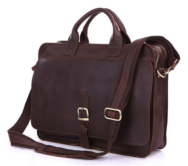 Mens Genuine Leather Briefcase Laptop Tote Bags Shoulder Business Messenger  Bags(A123) 7c28341404bea