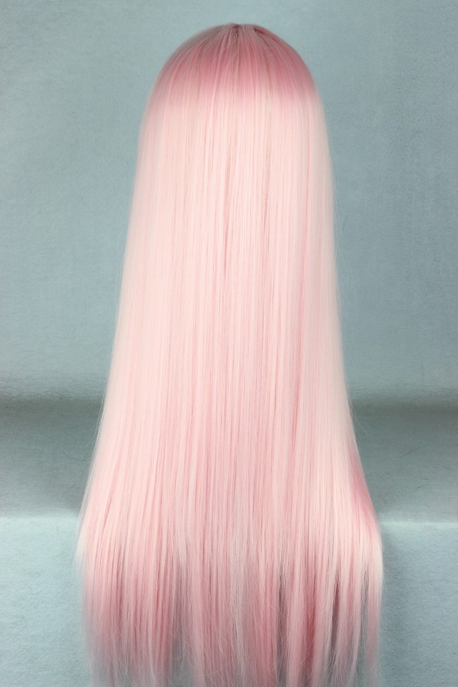 70cm Long Light Pink Beautiful Lolita Cosplay Wig