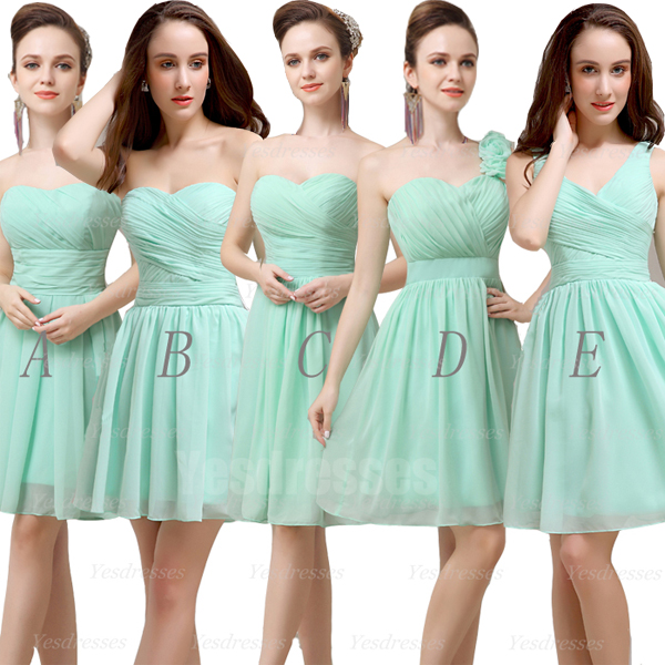 9512b34bd84fd Mint bridesmaid dresses, short bridesmaid dresses, mismatched bridesmaid  dresses, cheap bridesmaid dresses,