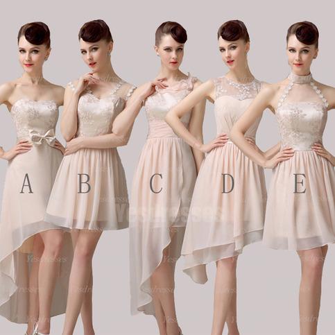 Champagne Bridesmaid Dresses Short Bridesmaid Dresses Mismatched Bridesmaid Dresses Simple