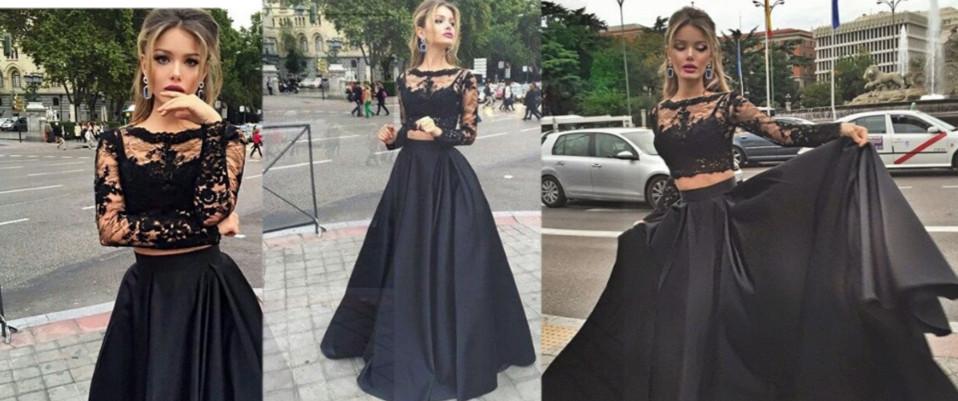 a55d2e2dca5 Two piece prom dress