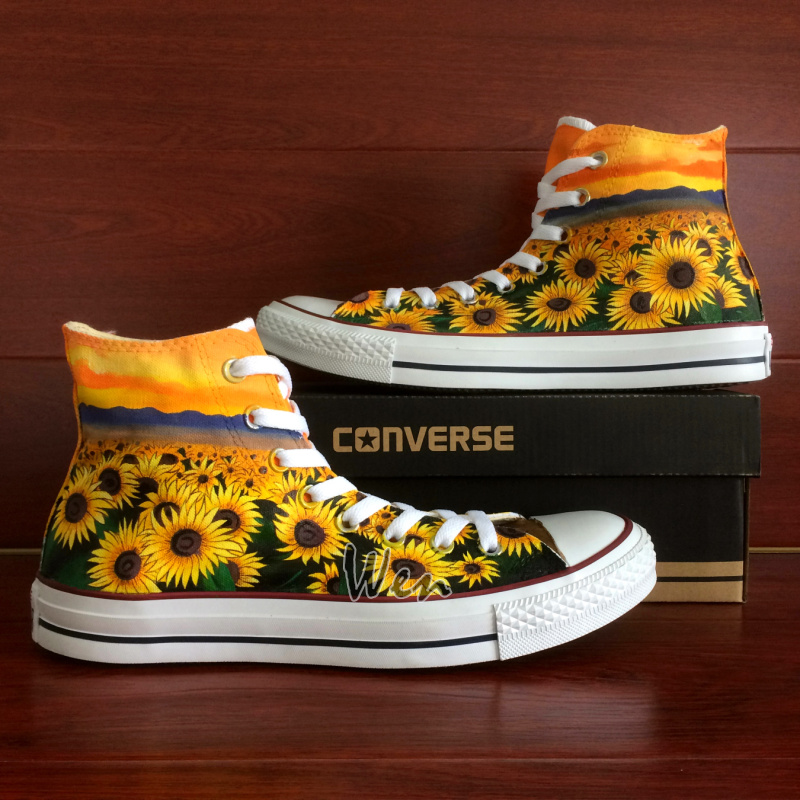 aaab328f127c5c Sunflower Floral Original Design Converse All Star Chuck Taylor ...