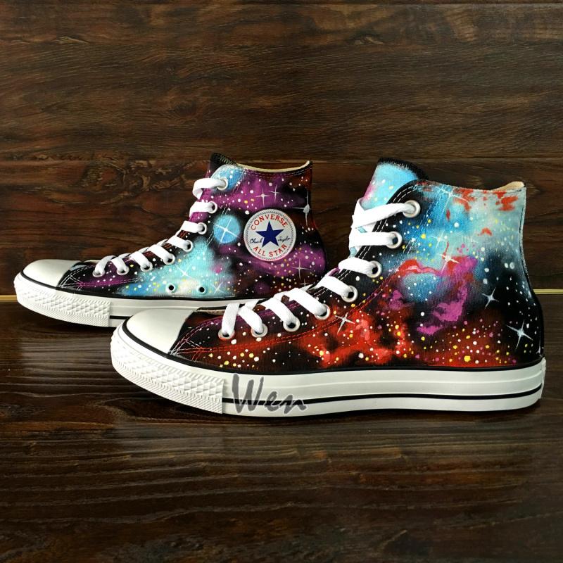 714e85986e04 Fantastic Galaxy Nebula Original Design Converse All Star Custom ...