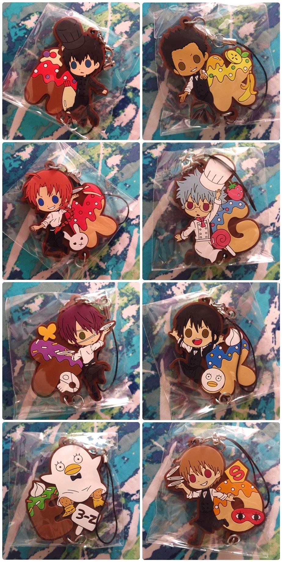 Japan Anime Gintama Gintoki Kamui Manga Okita  Keychain Rubber Strap Phone Charm