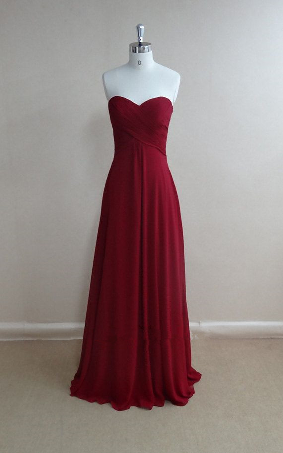 d7cb3a84c91 Beautiful Burgundy Simple Sweetheart Prom Dresses 2016