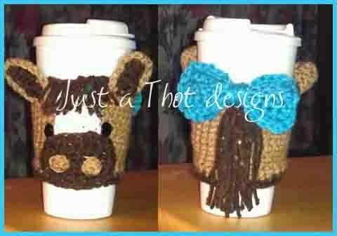 Crochet Horse Cup Cozy 183 Jatdesigns 183 Online Store Powered