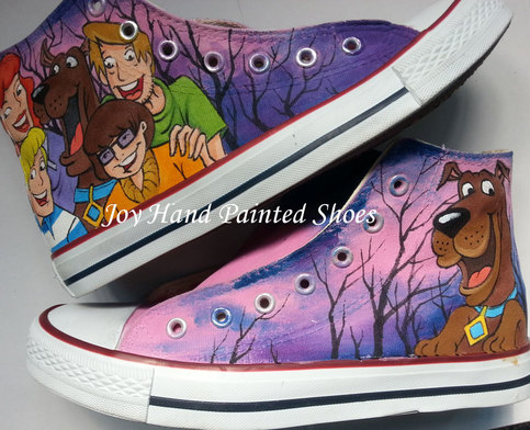 Converse All Star Scooby Doo Hand Painted Unisex High Top