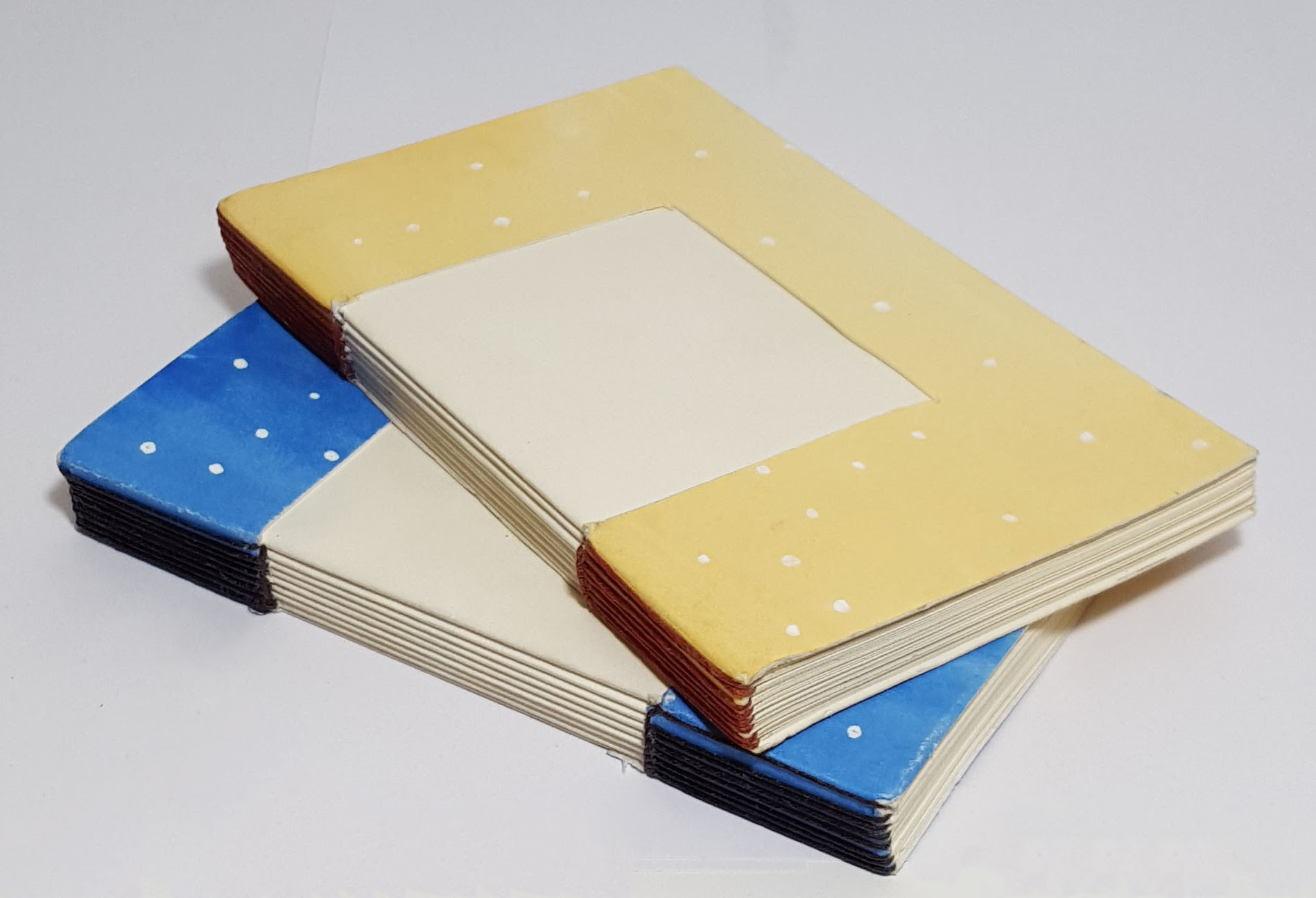 set of 2 open spine plain page notebook or sketchbook erinmeredith