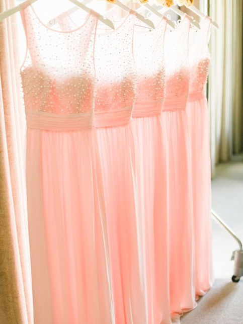 See Through Bridesmaid Dress Peach Bridesmaid Dress