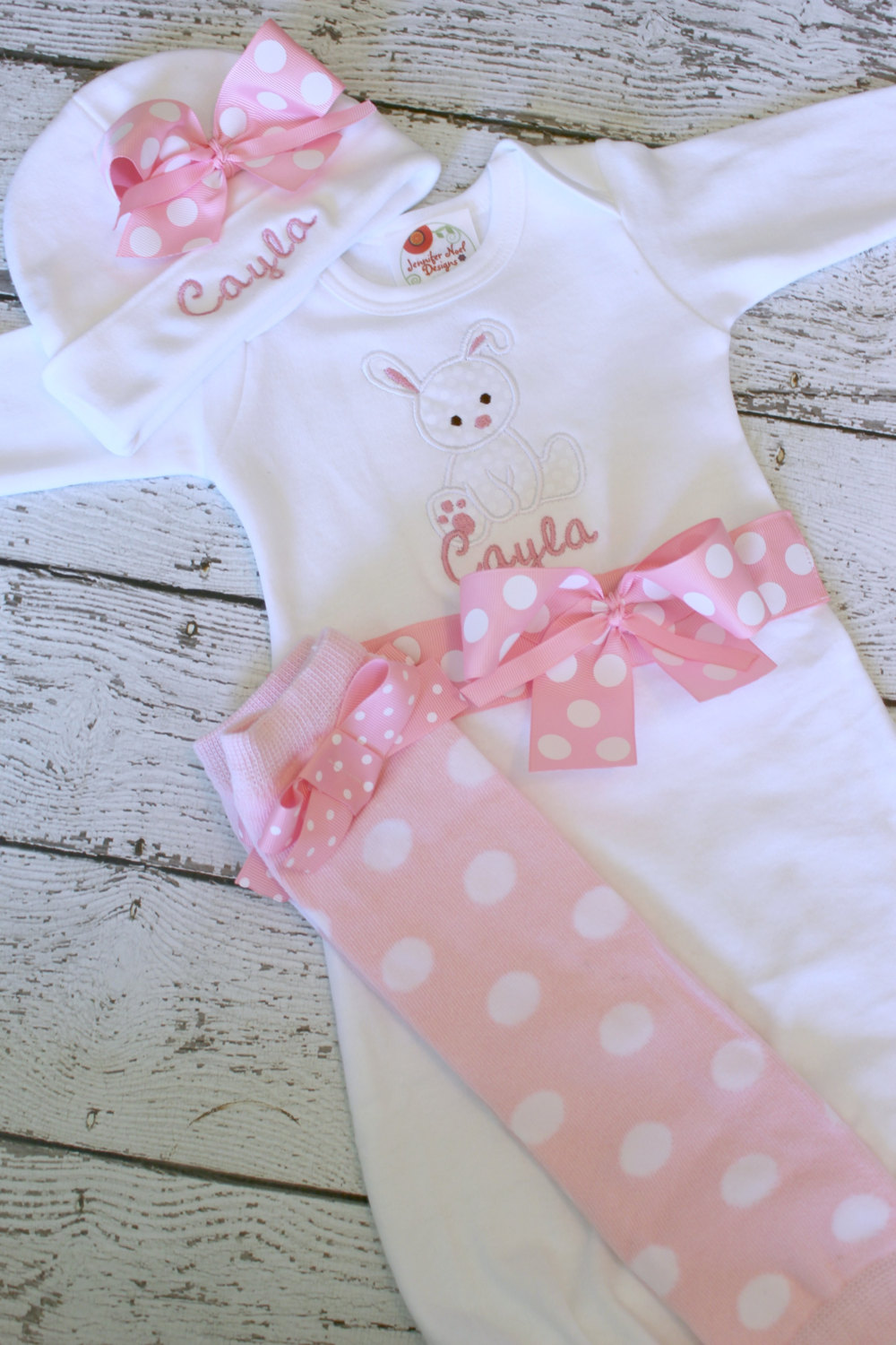 e14a2a362 Newborn Girls Take Home outfit, coming home outfit, Baby girl Bunny ...