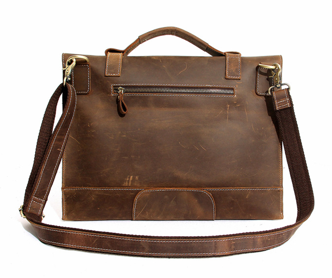 in stock 8bee5 33c38 Mens Leather Satchel, 15 Inch Laptop Briefcase, Macbook Pro 15