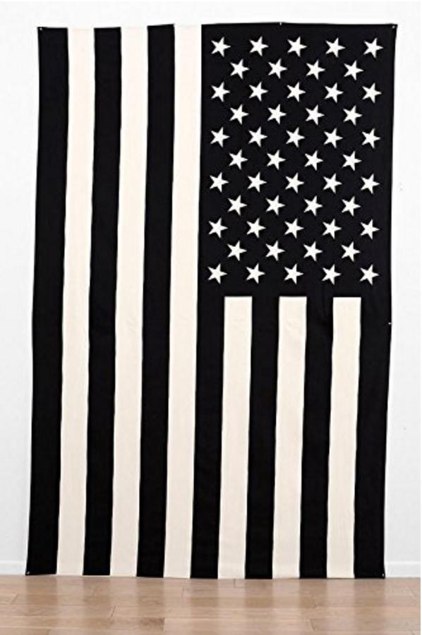Black & White American Flag Wall Hang from Knee Deep Denim