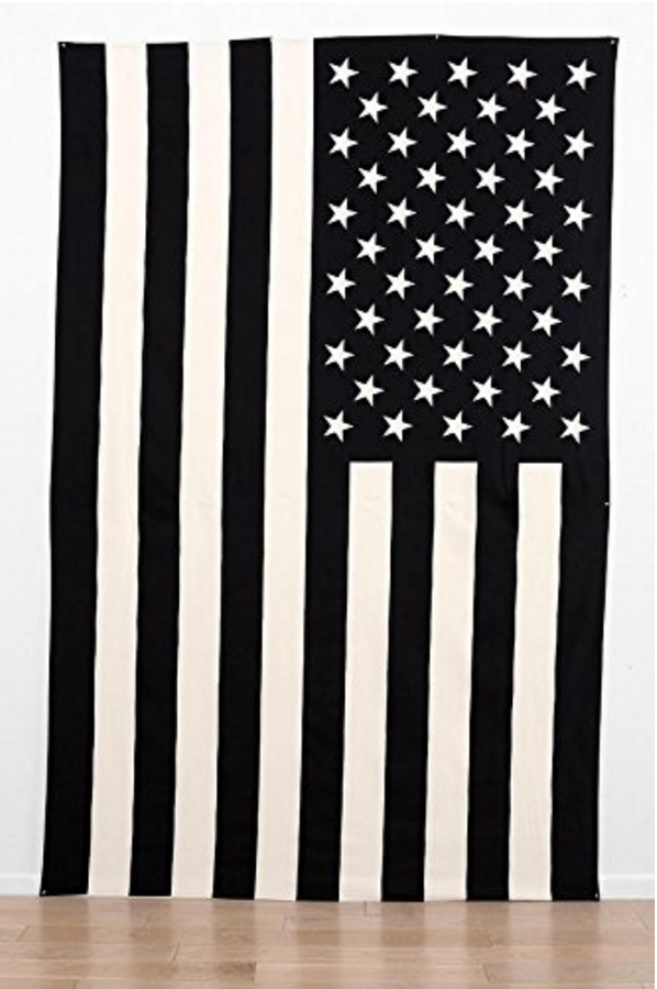 Black White American Flag Wall Hang On Storenvy