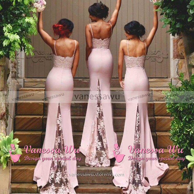 266b65645c8 Sweetheart Bridesmaid Dresses with Lace Appliques
