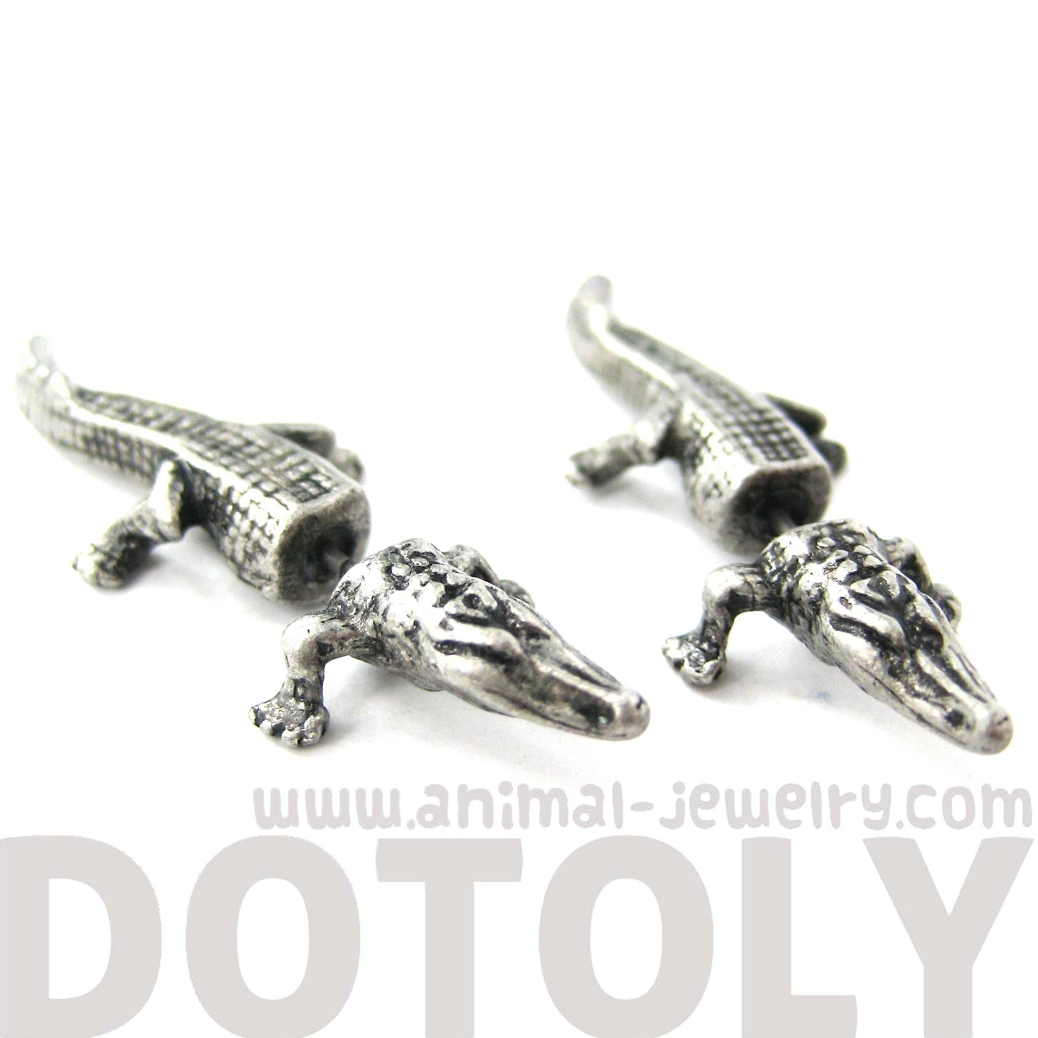 Unique Fake Gauge Crocodile Alligator Animal Stud Earrings ...