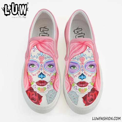 5fcb3a9d4200 CALAVERA SLIP-ON - sugar skull design shoes