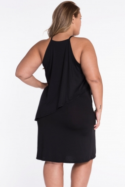 Plus Size Curve Tiered Swing Dress sold by KURVV