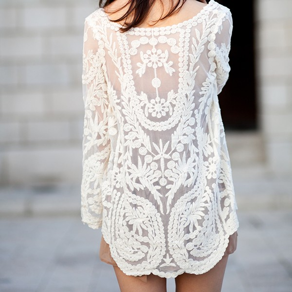 fef007e16f4 Cream Crochet Tunic · Kalliope's Closet · Online Store Powered by ...