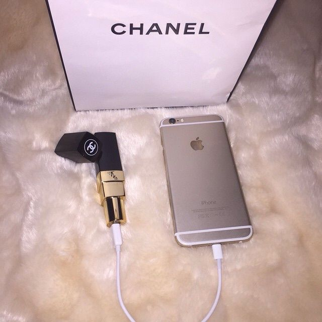 Chanel Lipstick Portable Power Bank Travel Cell Charger On