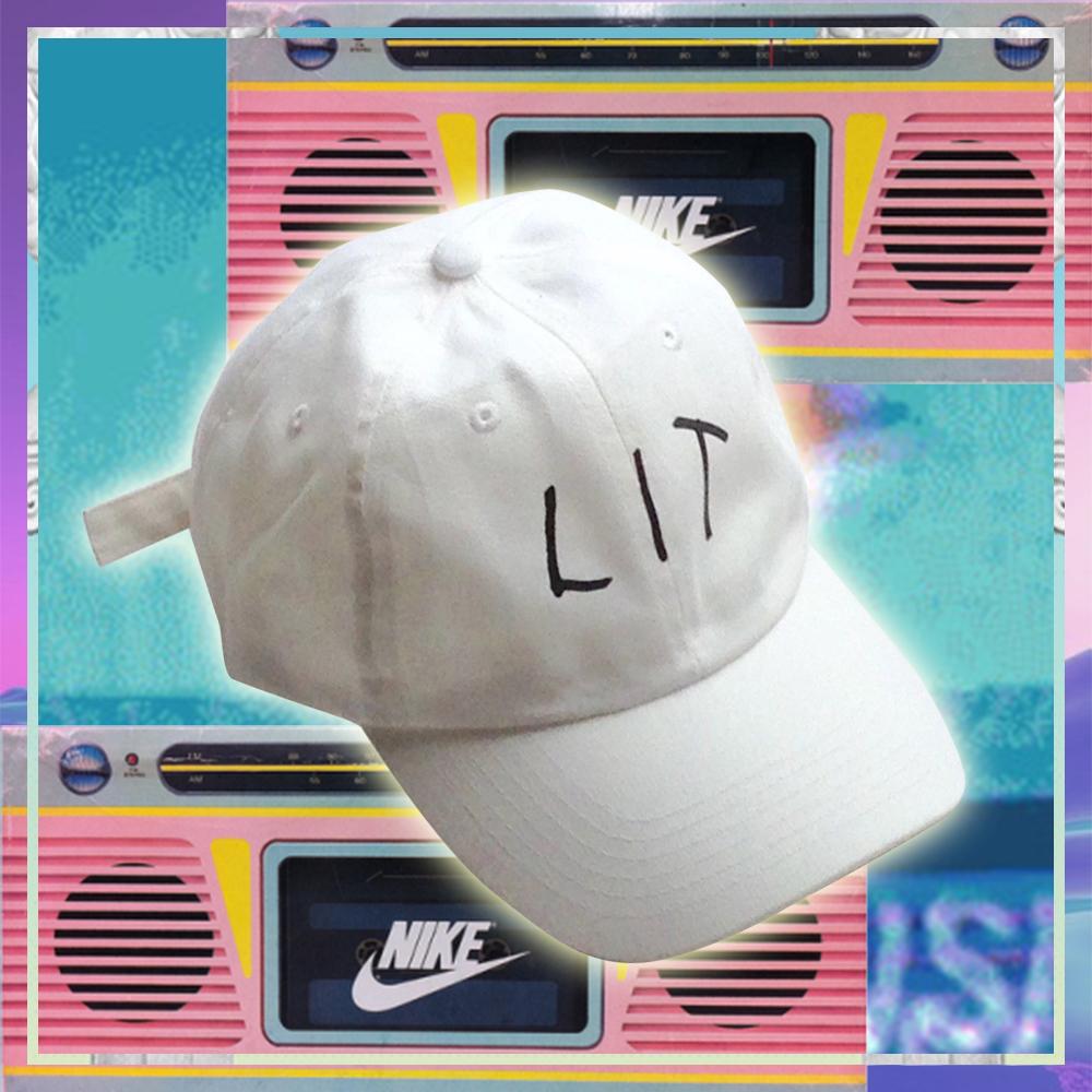 0d71e374ef6 VAPORWAVE LIT BASEBALL CAP IN WHITE · soldrelax · Online Store ...