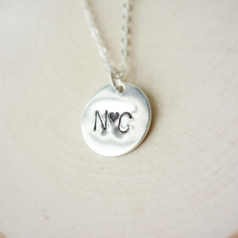 71c12c8e8 Disc Necklace Sterling Silver 13mm _ Sundara Artisan Jewelry _ ...