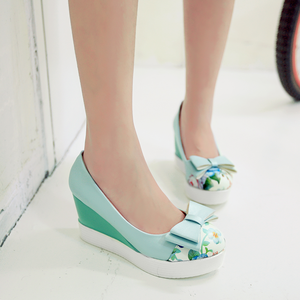 354dc67792d633 Bow Women Wedges Platform Shoes on Storenvy