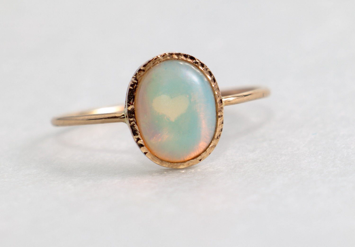 Famous Fire Opal Engagement Ring, solid 14k gold, opal jewelry  IW88