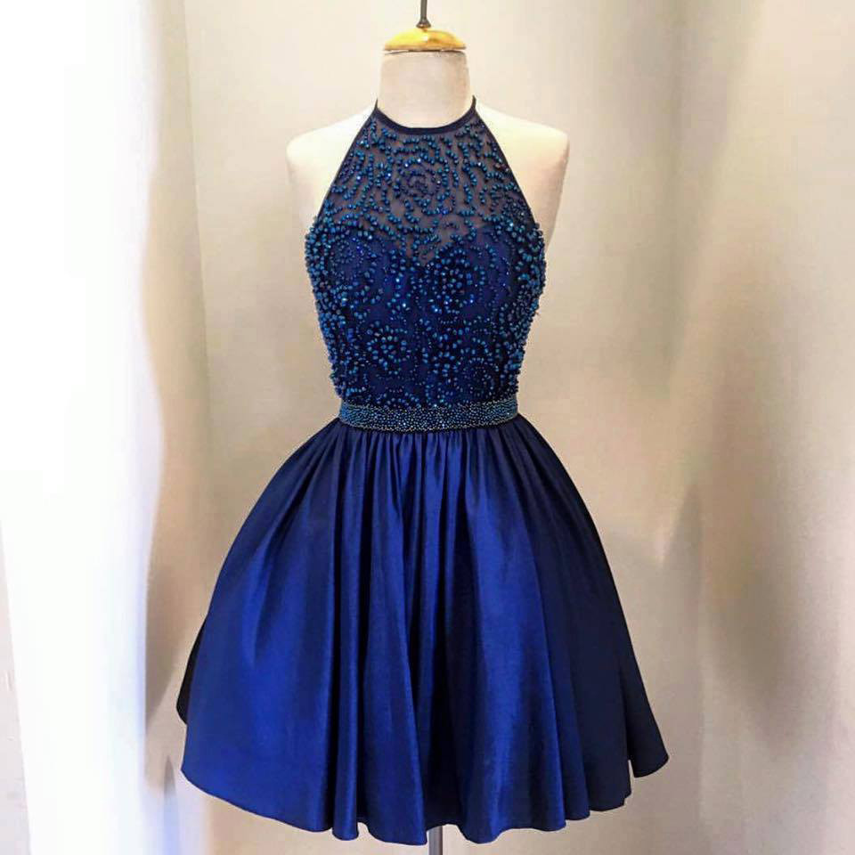 Blue Homecoming Dress Short Prom Party Dresses pst1018 on ...