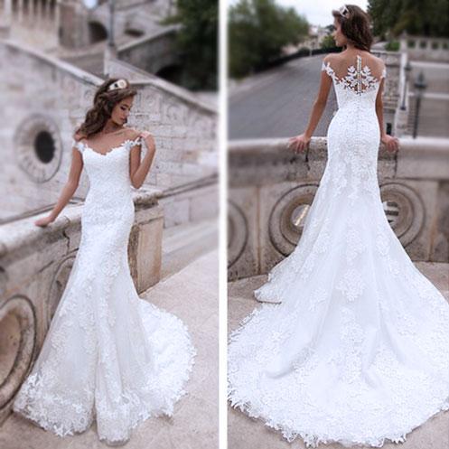 Wedding Dress,Off Shoulder Wedding Dress,Lace Wedding Dress,Mermaid ...