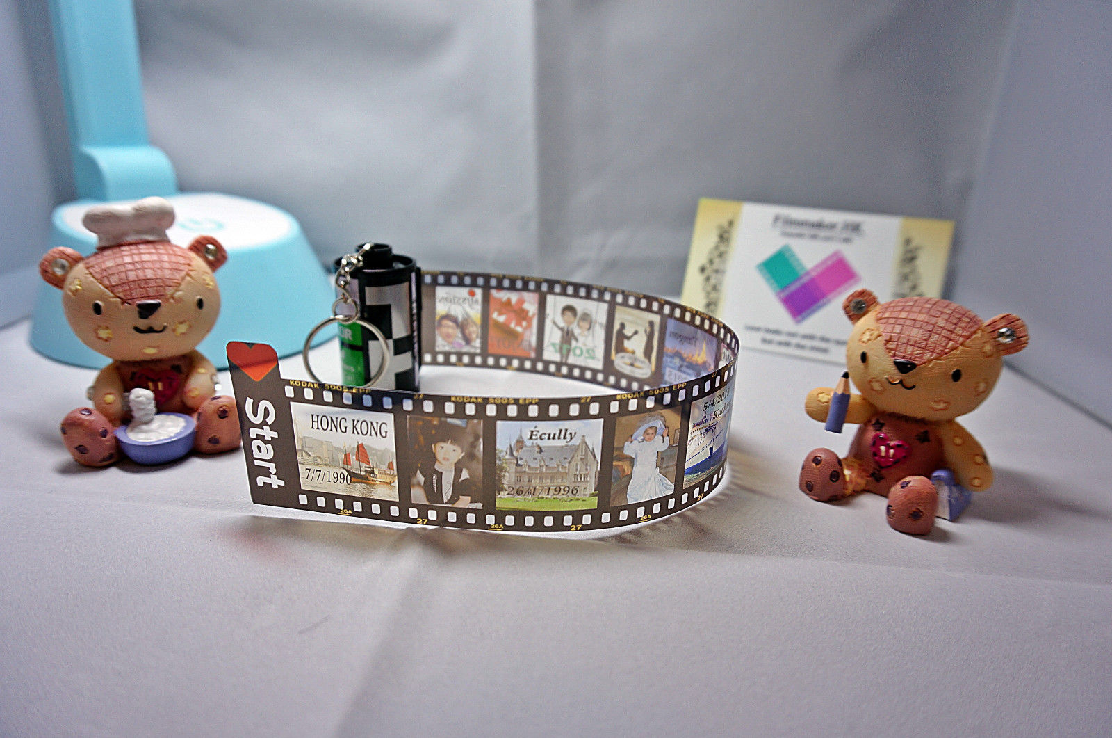 Personalized photo keyring photo key chain photo gift mom photo locket gatefold scrapbook mini album film roll photo cube photo puzzle 3 small negle Gallery