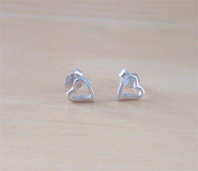925 Silver Heart Earrings