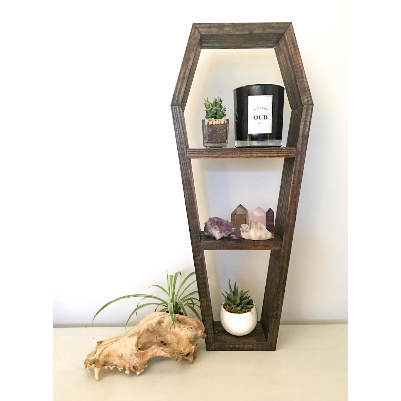 Coffin Shelf Crystal Shelf Shadow Box Wood Shelf Floating Shelf Wall Shelf Gothic Shelf Crystal Altar