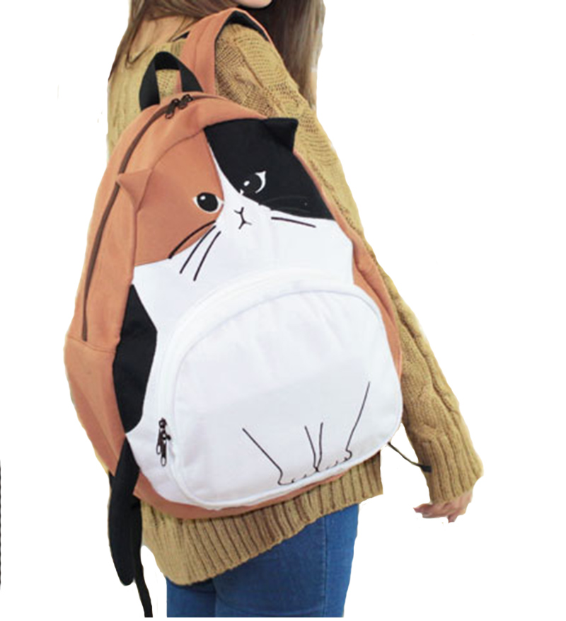 556f76ae04 ... 4 Colors Cute Kawaii Cat Canvas Backpack SP166888 - Thumbnail 2 ...