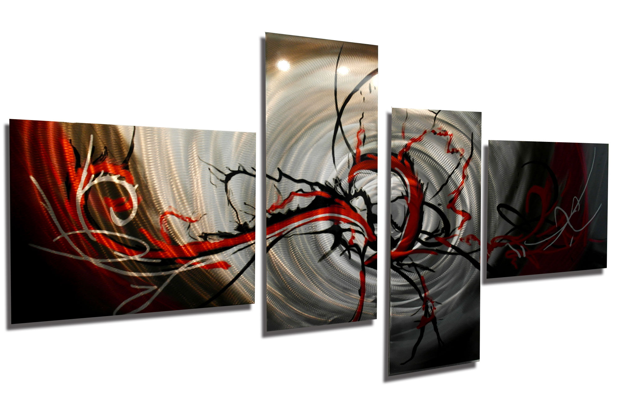 Basilisk In Red 67 X 34- Metal Wall Art Abstract