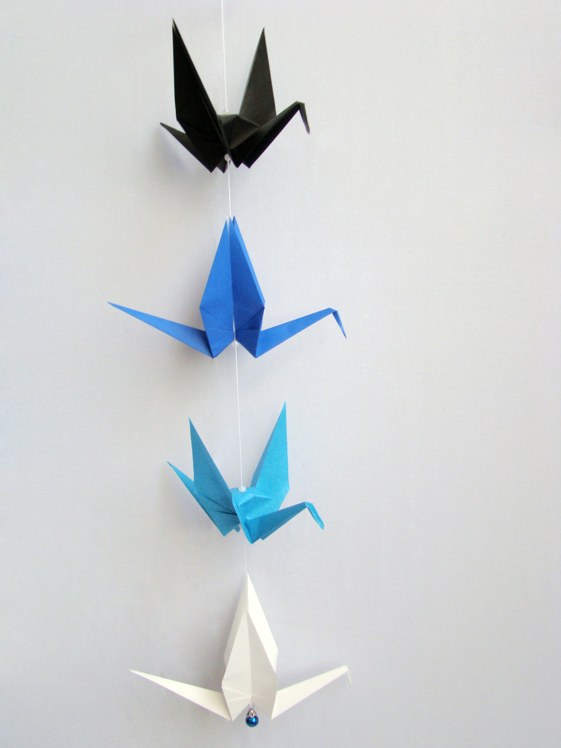 READY TO SHIP - Origami Crane Hanging Mobile - Blue Ombre ... - photo#32