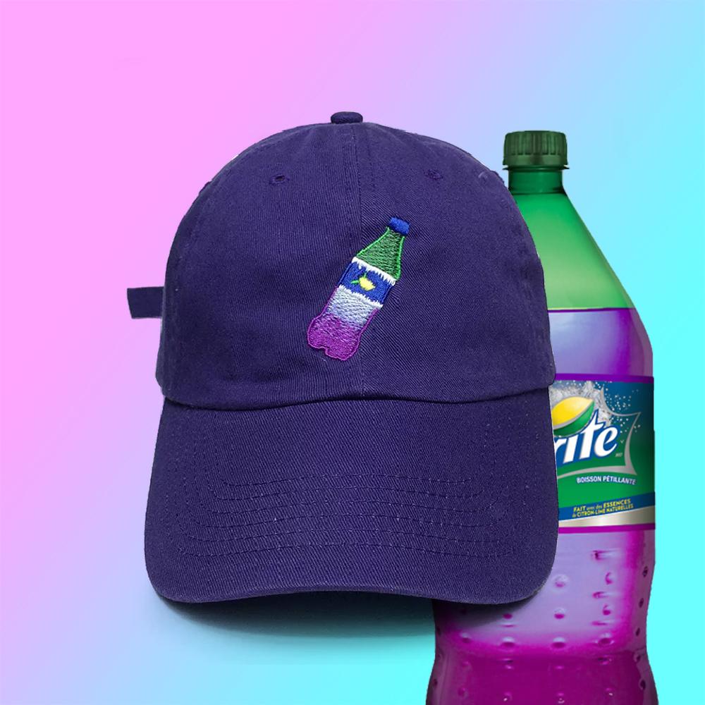 94fa57b5248 VAPORWAVE PURPLE SPRITE DRINK BASEBALL CAP IN PURPLE · soldrelax ...