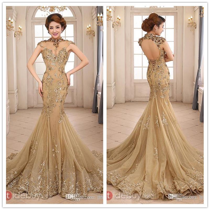 Gold Long Evening Dresses