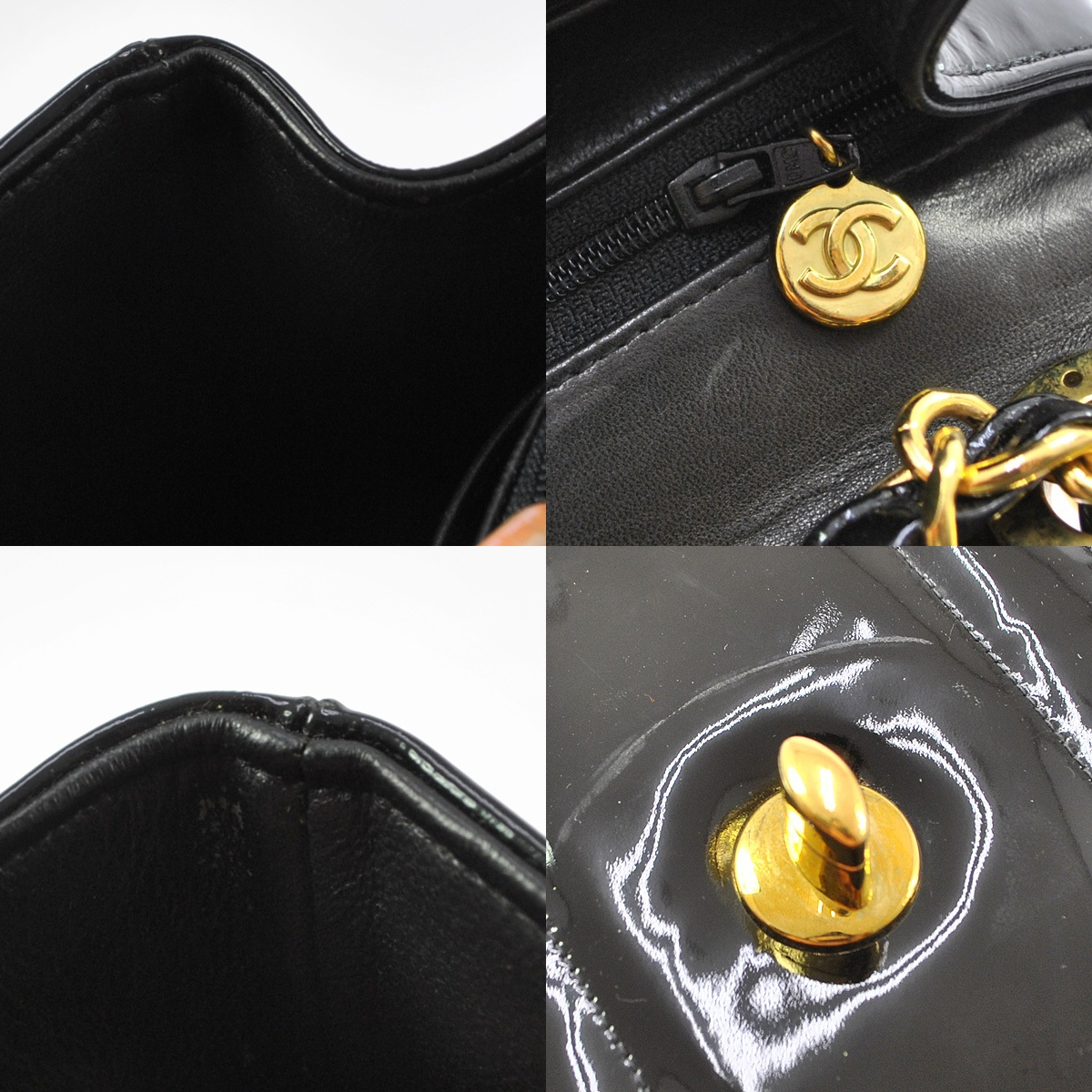 authentic rare vintage chanel xl jumbo patent leather flap bag with ghw truc de chic boutique. Black Bedroom Furniture Sets. Home Design Ideas