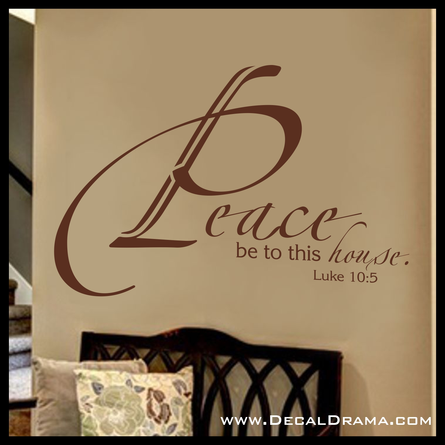 Peace be unto this house luke 105 scripture bible new testament peace be unto this house luke 105 scripture bible new testament verse vinyl wall decal on storenvy amipublicfo Choice Image