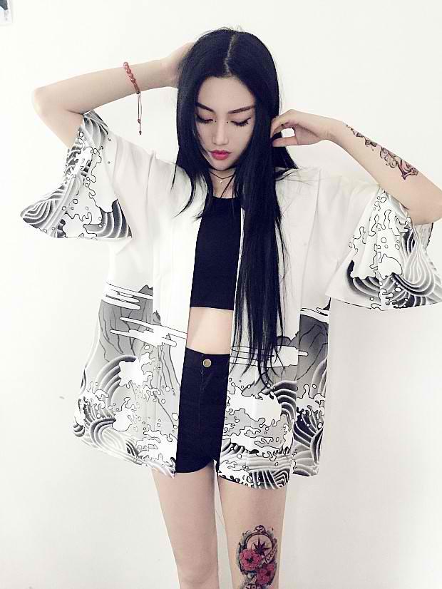 06827078ab Dragon Waves Kimono Cardigan on Storenvy