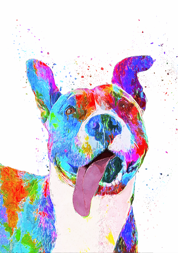 Pit Bull Terrier Pop Art Pet Portrait / DIGITAL DOWNLOAD Dog Art, Pet  Sketch, Dog Art Print / Support Pit Bull Advocacy sold by PetInks Design  Studio