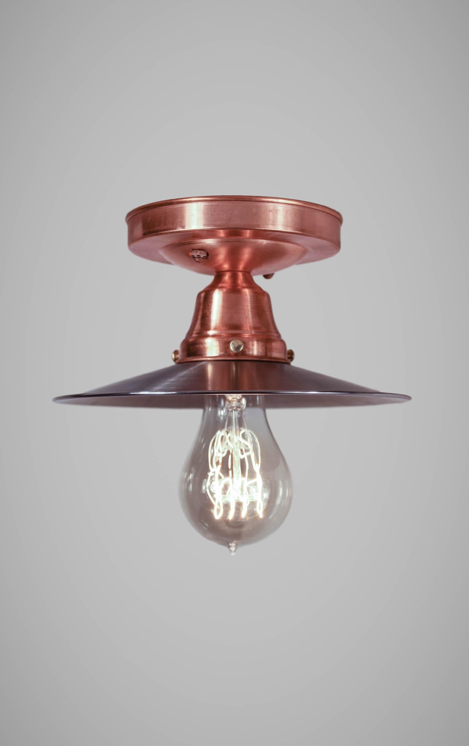 Copper Flushmount Ceiling Light Vintage Industrial