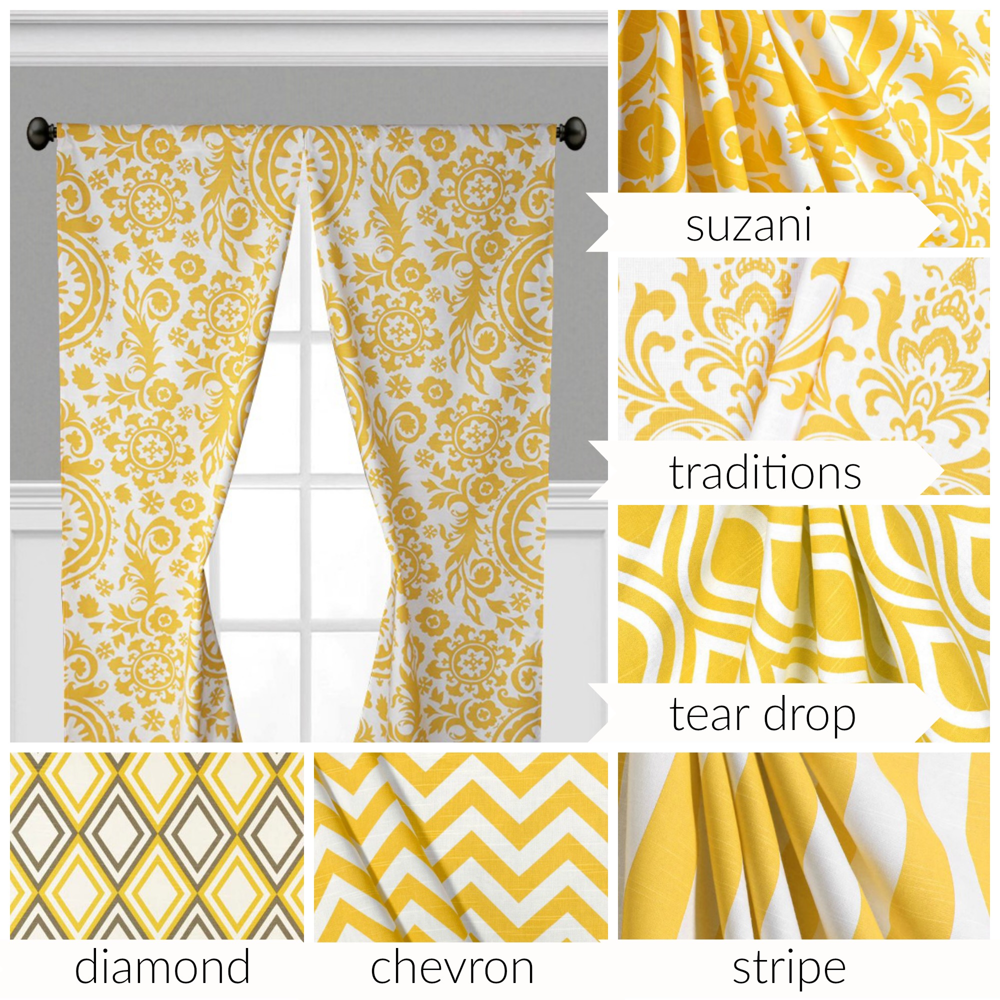 Yellow Curtains Window Treatments Floral Damask Nursery Curtain Panels Drapes Sold By Sewmanylinens On Storenvy