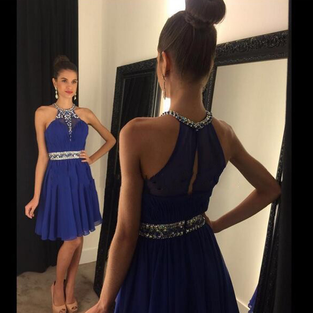Royal Blue Homecoming Dress,Simple Homecoming Dresses,Beading ...