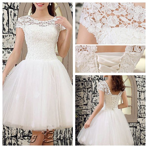 A13 Scoop Cap Sleeve Short Beaded Lace Top Wedding Dresses Wedding Dresses On Sale Miss Lady Online Store Powered By Storenvy,Beach Wedding Guest Dresses White