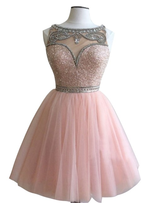 Beading Simple Short Prom Dresses Cocktail Dress