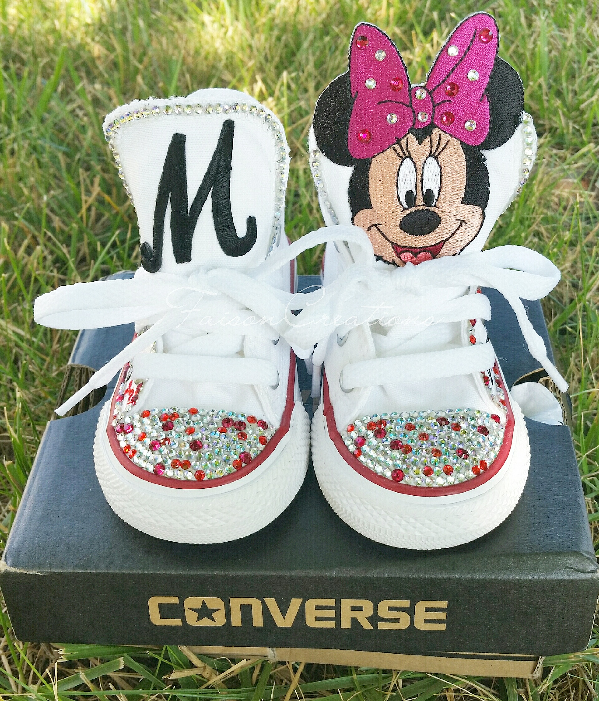 82cfa3b3a076 Toddler Custom Minnie Mouse Converse Size 5 · FaisonCreations ...