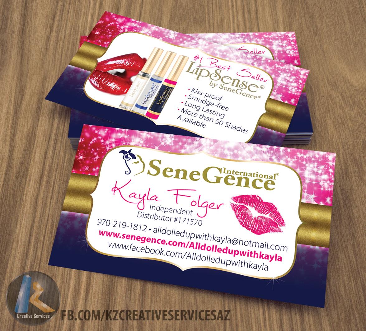 senegence business cards style 3 - Senegence Business Cards